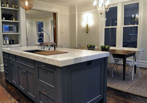 How Thick Are Countertops by Thick White Marble Countertops Kitchen