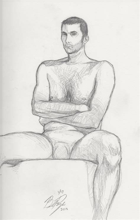 figure drawing session 6 sitting pose by