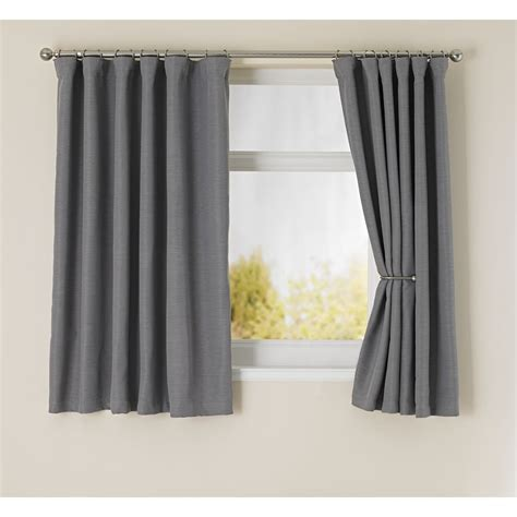 Silver Blackout Curtains Wilko Blackout Curtains Grey 167x183cm At Wilko