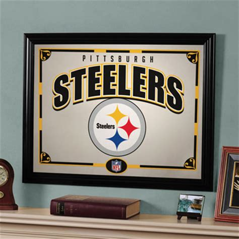 pittsburgh steelers home decor pittsburgh steelers nfl framed glass mirror