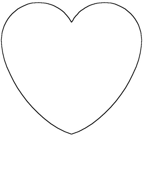 heart pattern for preschool kids shapes coloring pages pattern printables