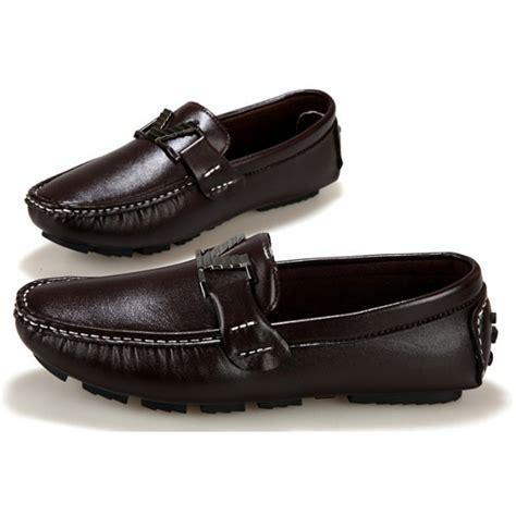Sepatu Slip On Pria Slip On Kulit Sandal Trendy Gawx3254 Black jual sepatu slip on pria kulit