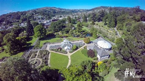 Dunedin Botanic Gardens Aerial Photography Of Dunedin Exploring New Zealand