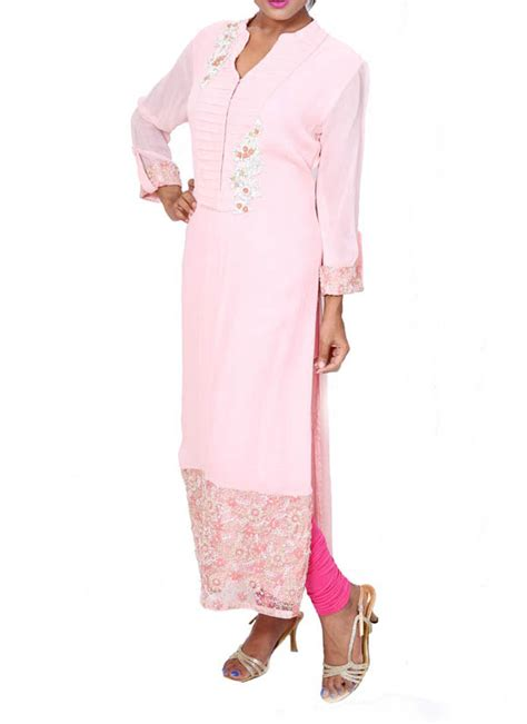 Novel Tunik Pink anju agarwal baby pink tunic shop tunics at strandofsilk