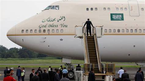 Saudia Square Plain the saudi king arrives in indonesia on a golden escalator