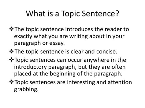 Exle Of A Topic Sentence For An Essay by Paper Rater How To Develop Topic Sentences