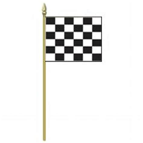 Checkered Flag L by End Of Race Checkered Flag On Staff