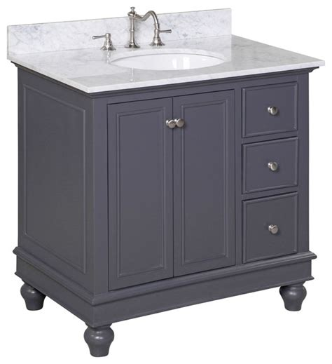 charcoal grey bathroom vanity bella 36 quot bath vanity carrara charcoal gray