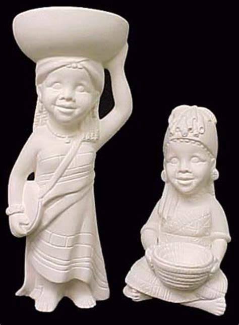 african american baby ceramic molds african girls holding basket and bowl emeraldz fine