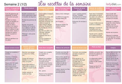 Menu Detox Pour Maigrir by Menus Minceur Semaine Le R 233 Gime Selon Nono