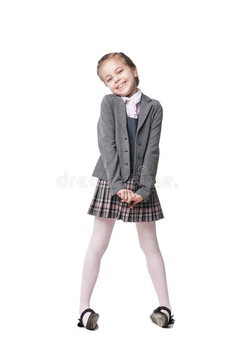 school girl uniform stock photos pictures royalty free beautiful little girl in school uniform isolated stock