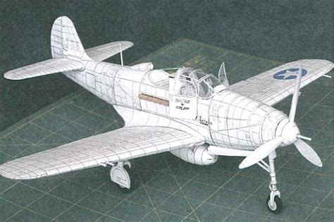 Papercraft Aircraft - papercraftsquare new paper craft wwii bell p 39d 1