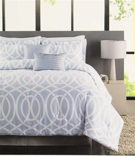 Raymond Waites Bridgeport 5 Piece Comforter Set Light Blue