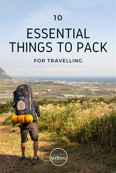 essential   pack  travelling  anytime