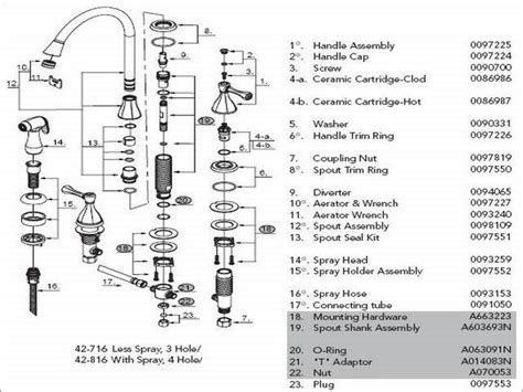 glacier bay kitchen faucet diagram glacier bay kitchen faucet parts list wow