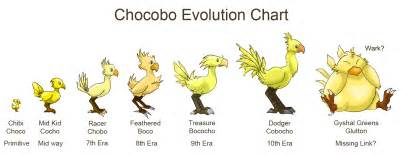 chocobo colors history of the chocobo