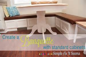 simple as it seems diy kitchen banquette seating from