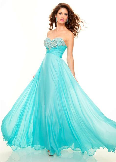 aqua colored dresses dressybridal 2014 prom color trend stunning aqua blue