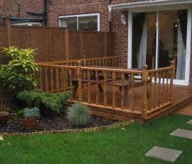 Inspirations For Simple Mahogany Garden Decking Ideas Decking Designs For Small Gardens