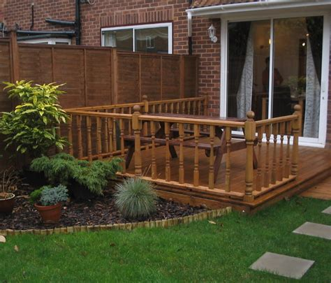 Inspirations For Simple Mahogany Garden Decking Ideas Small Garden Decking Ideas