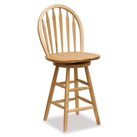 wooden bar stools with backs that swivel winsome wood 24 quot windsor swivel seat natural bar stool ebay