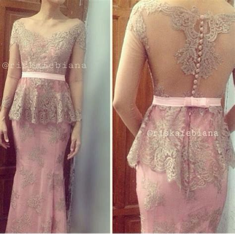 Kebaya Kutu Baru Lapita Dusty Pink kebaya dress pastel grey and skirts
