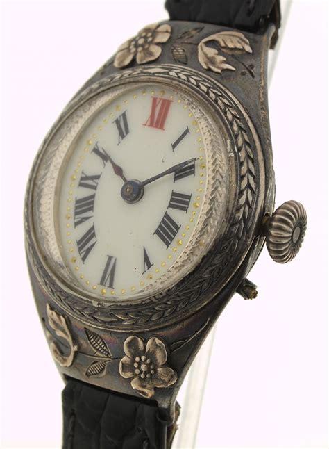 jugendstil len antike armbanduhr jugendstil schweiz 935er silber