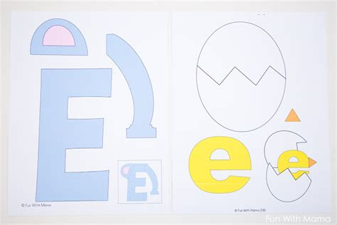 letter e crafts for free letter e printable pack with