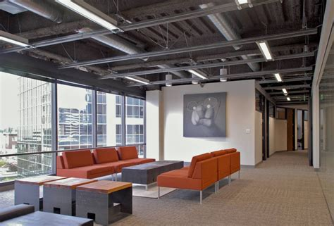 modern industrial office open ceiling lighting design ideas for commercial applications lbc lighting