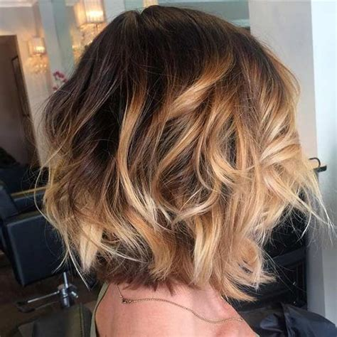 blonde and caramel highlights on short bobs 31 cool balayage ideas for short hair bobs highlights