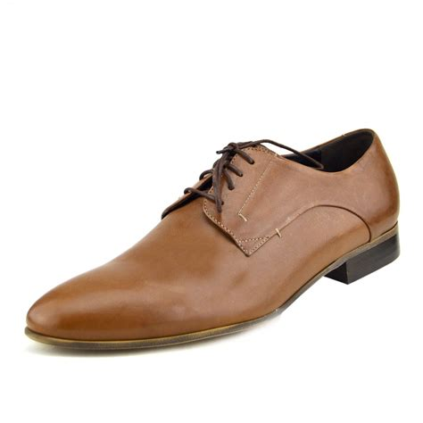 mens casual leather shoes real leather smart formal lace up casual office