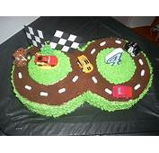 For The Cars Racetrack Cake I Made Big Sis' 4th Birthday