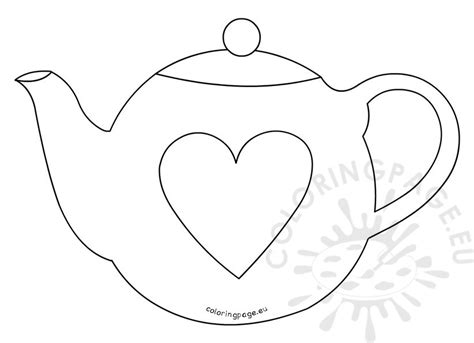 Teapot S Day Card Printable Template by S Day Teapot Card Template Coloring Page