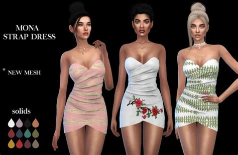 Dress Leo 734 by Mona Dress At Leo Sims 187 Sims 4 Updates