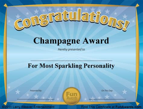 funny award certificates templates