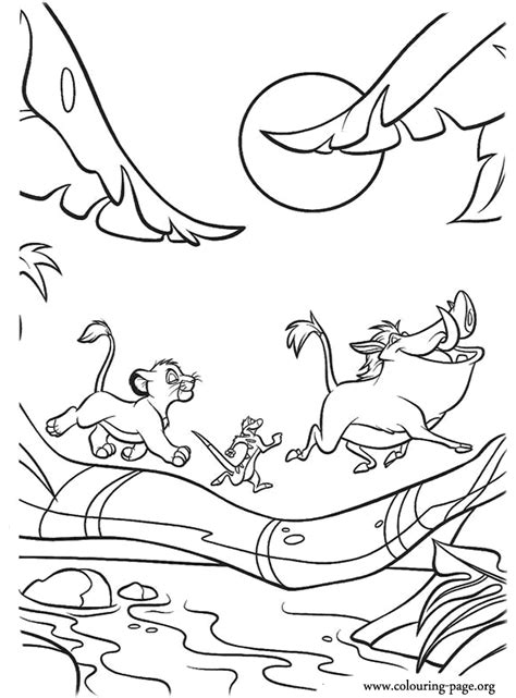 free coloring pages of lion king 2 simba