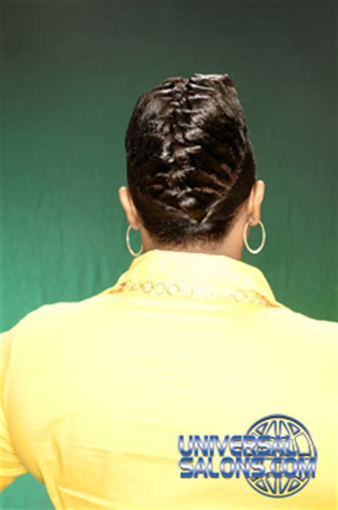 hairstylist in hton va specialize in short cut black women raised braid universal salons hairstyle and hair salon