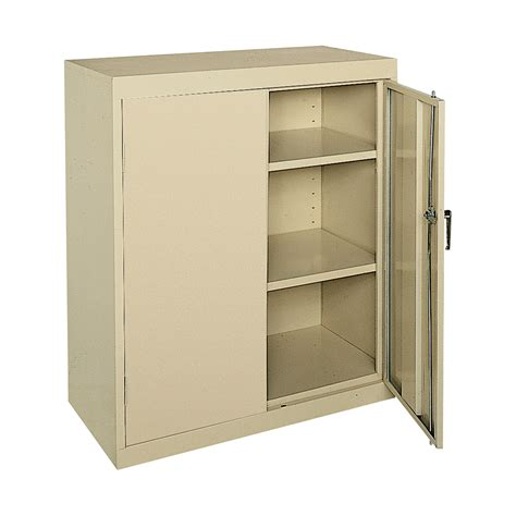 Metal Storage Cabinet Sandusky Commercial Grade All Welded Steel Cabinet 36in W X 18in D X 42in H Storage