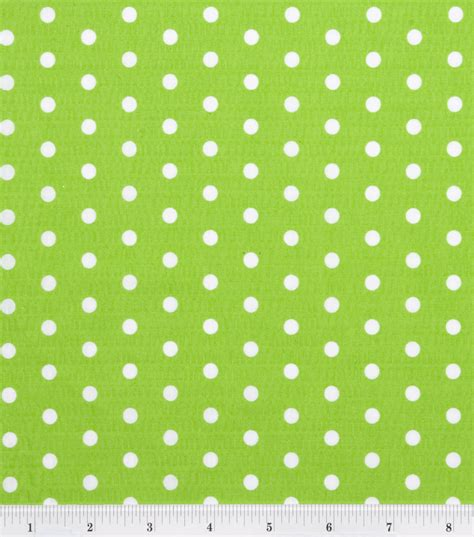 Green Home Decor Fabric by Tutti Fruitti Collection Large Polka Dot Lime White Jo Ann