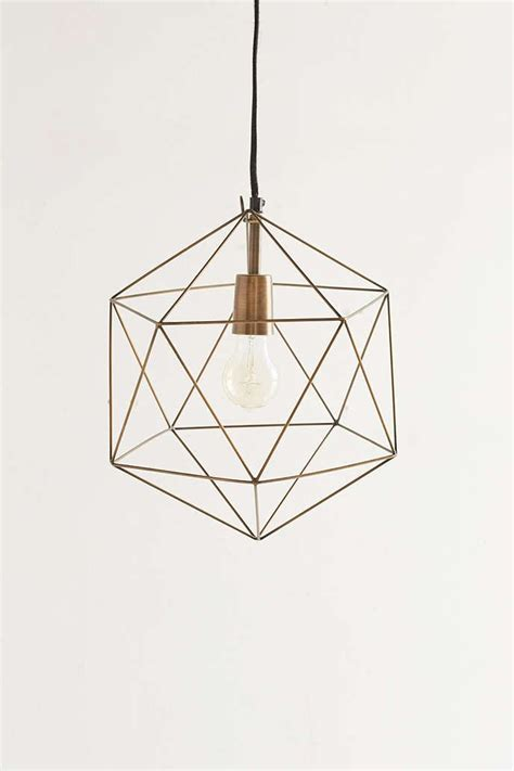 geometric pattern hanging light geo pendant magical thinking geo and urban outfitters