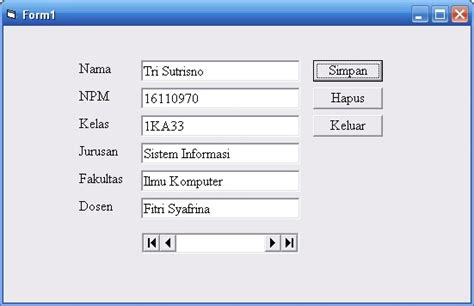 4 Pemrograman Database Dengan Visual Basic 2010 Untuk Orang Awam contoh program database pada visual basic