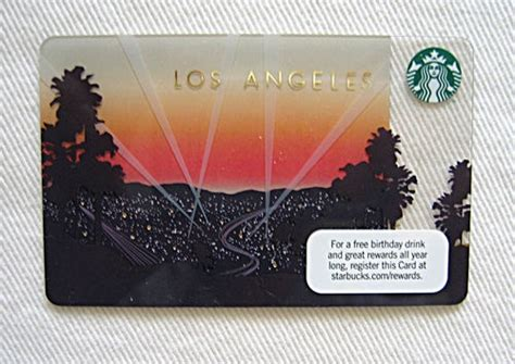Los Angeles Gift Cards - 9 best images about starbucks state city cards on pinterest los angeles sleeve and
