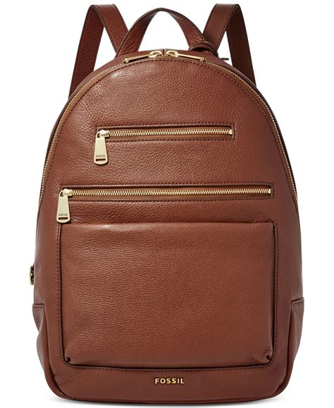 Fossil Phoeboe Backpack Colorfull New fossil piper leather backpack in brown lyst