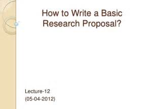 How To Write A Quick Research Paper How To Write A Basic Research Proposal