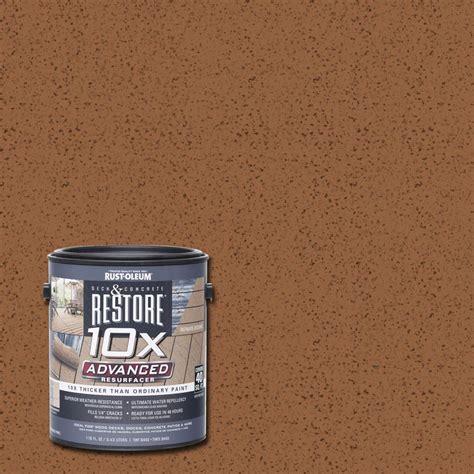 rust oleum restore  gal  advanced timberline deck