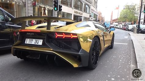 lamborghini aventador sv roadster gold gold lamborghini aventador sv roadster 1 of 500 in london youtube