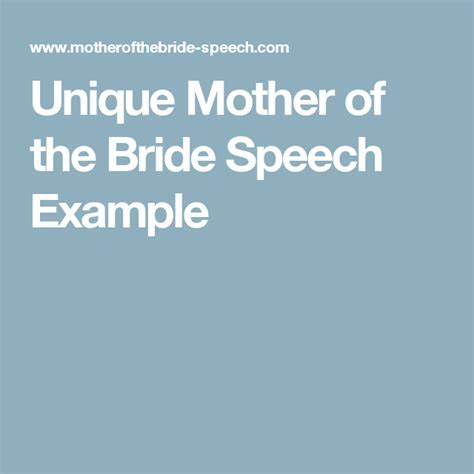 Unique Mother of the Bride Speech Example   Quotes