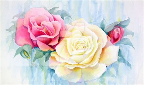Watercolor Roses by KathleenCasey on DeviantArt