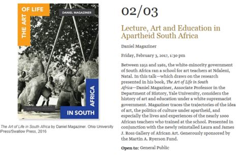 lecture art education apartheid south africa