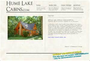 hume lake cabin rentals lot 97